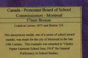 Medal   Canada Prodestand Board of School