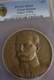 Lord Horatio Herbert Kitchner copper medal